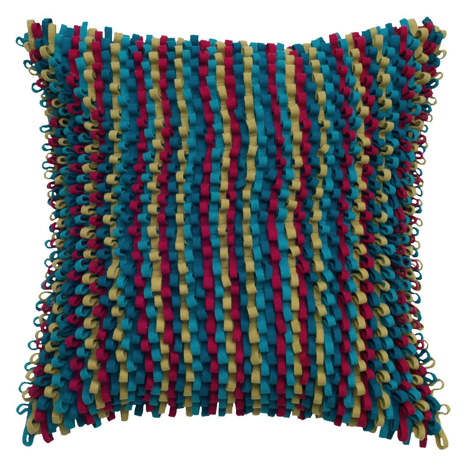 Rizzy home wool loop soft texture decorative throw pillow t