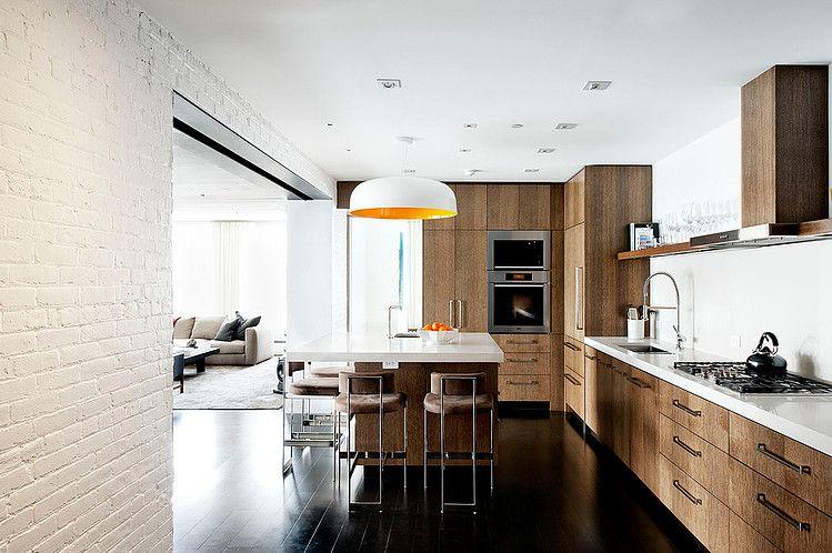 Laight Street Loft By David Howell Design Homeadore Brick Interior Interior Architecture Design White Brick Walls
