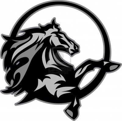 Mustang Stallion Graphic Mascot Image Projects For Little Ones