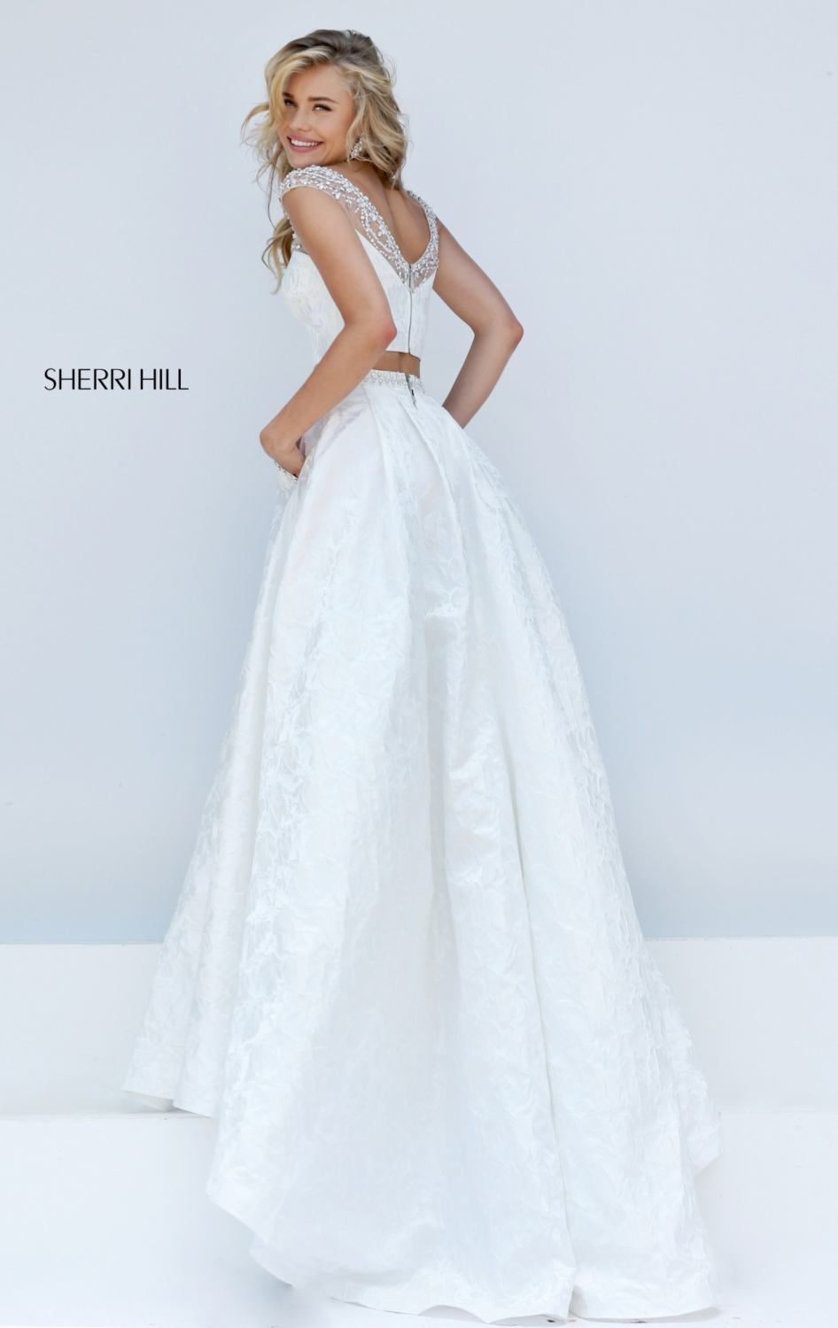 Two Piece Textured Gown By Sherri Hill Vestidos Vestidos