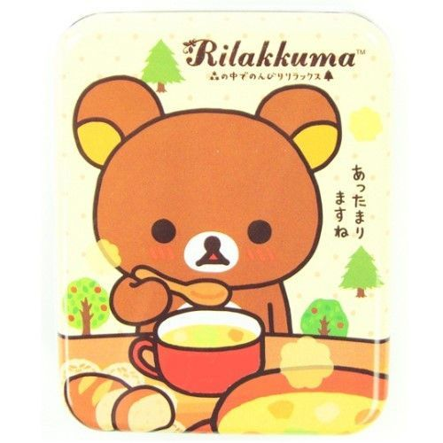 San-X Rilakkuma Note Memo Pad with Metal Cases 2 PCs Mushroom & Soup