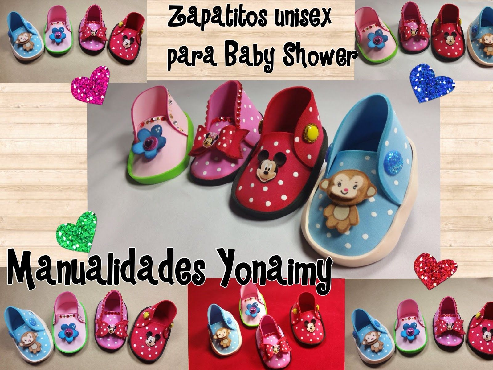 ZAPATITOS UNISEX PARA BABY SHOWER DE FOAMY O GOMA EVA | foami ...