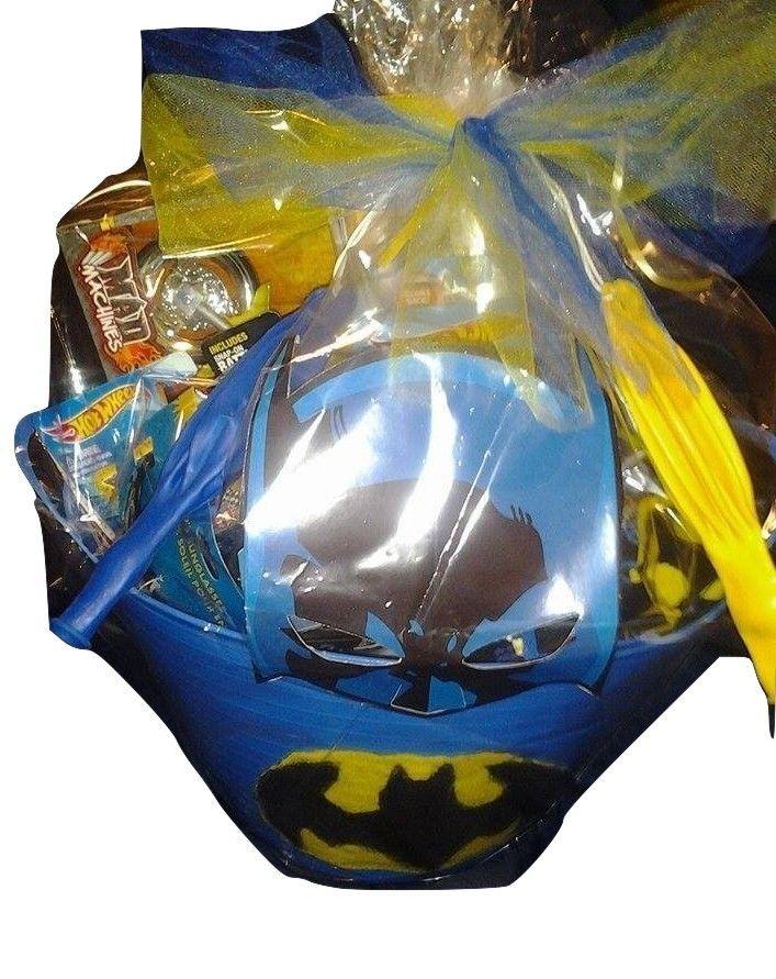 Batman easter or birthday gift basket for young boy for sale with batman easter or birthday gift basket for young boy for sale with negle Gallery