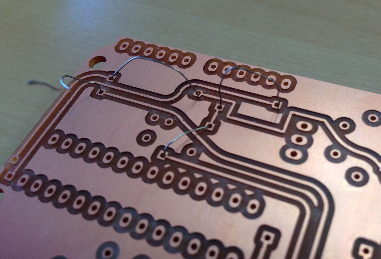 Vias Threaded With Tinned Wire