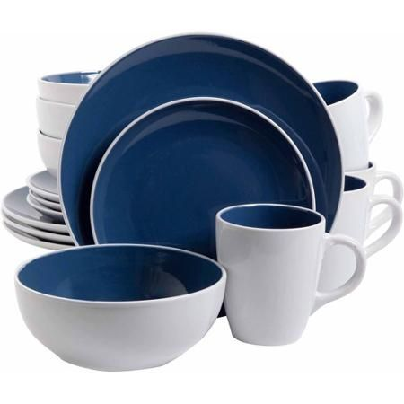 Gibson Home 16-Piece Luna Red Dinnerware Set - Walmart.com  sc 1 st  Pinterest & Gibson Home 16-Piece Luna Red Dinnerware Set - Walmart.com | Home ...