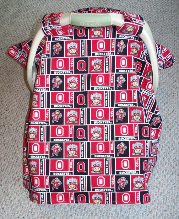 Ohio State Buckeye Infant Car Seat Canopy Cover by patchworkohio $24.50  sc 1 st  Pinterest & Ohio State Buckeye Infant Car Seat Canopy Cover by patchworkohio ...
