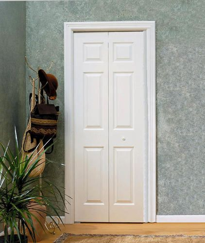 6 Pnl Primed Woodgrain Colonist 2 Leaf Bi Fold Door 36 X 80 At Menards Bifold Doors Masonite Interior Doors Interior Design Institute
