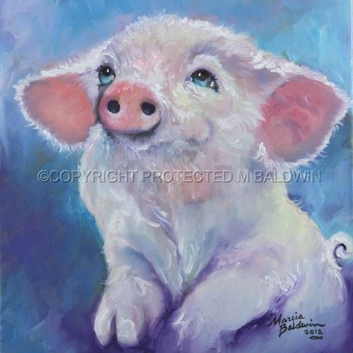 FEED ME ~ Pink Piglet !! in 2019 | Canvas, Artist canvas