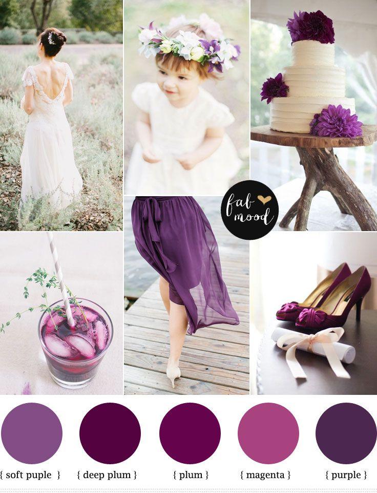 Plum Purple Wedding Http Www Fabmood