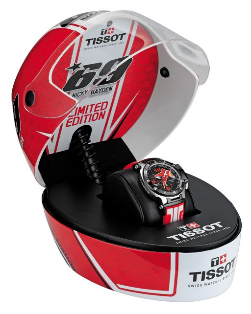 015aec79181 The Tissot T-Race Nicky Hayden limited edition and it s helmet case ...