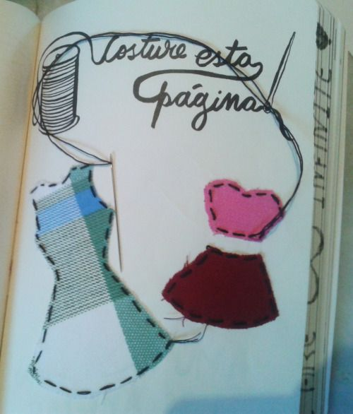 wreck this journal sew this page - Google Search ...  Wreck This Journal Sew This Page