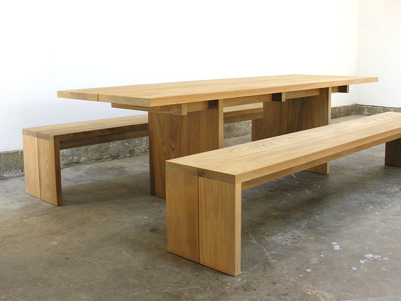 John Pawson Tables From Matin In Los Angeles Remodelista Furniture Wooden Dining Bench Furniture Design