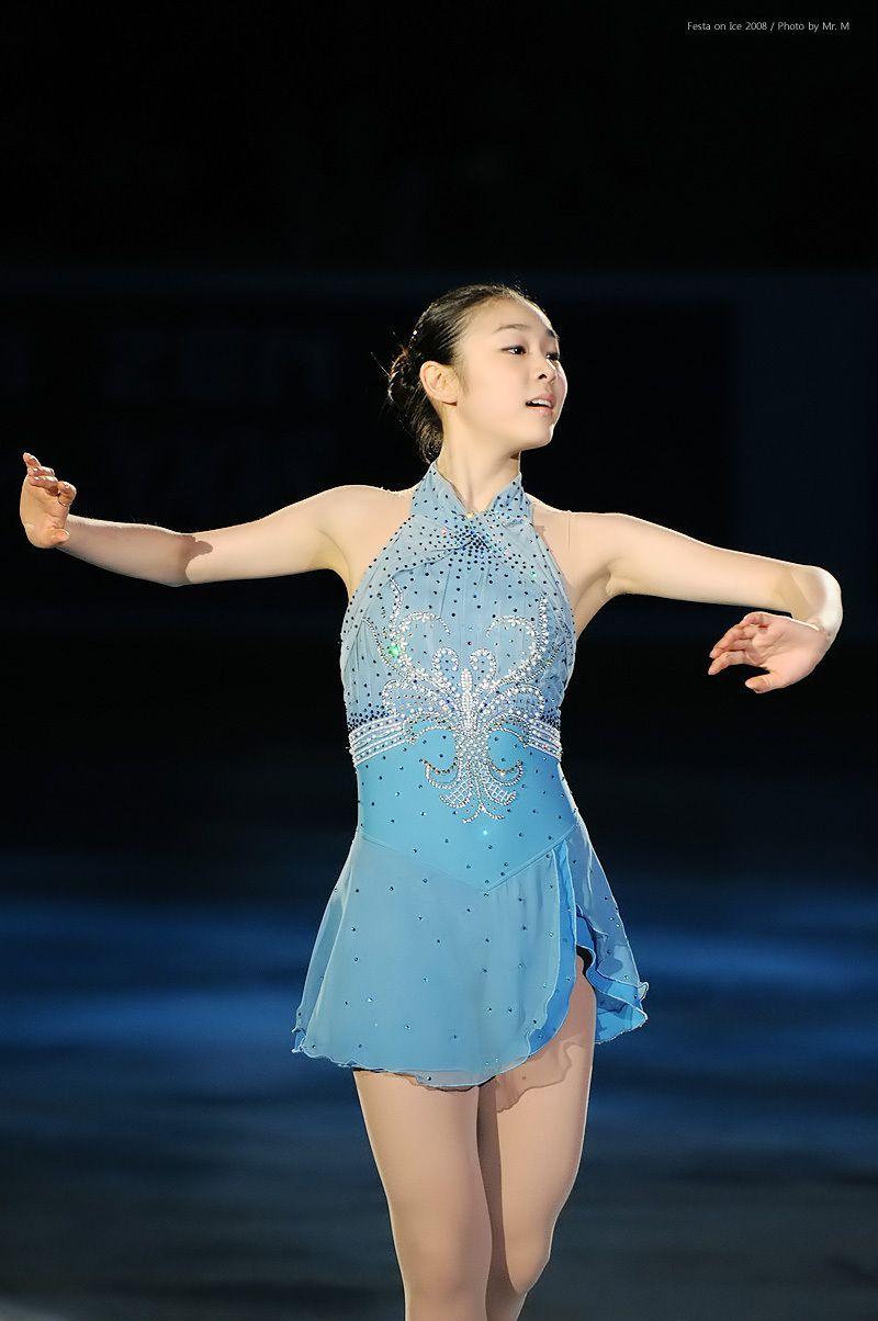 Yuna Kim -Blue Figure Skating / Ice Skating dress inspiration for ...