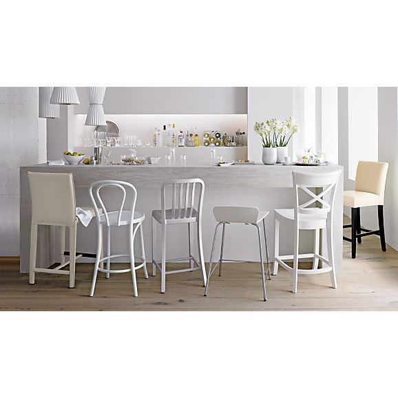 Vintner 24  White Counter Stool in Barstools | Crate and Barrel  sc 1 st  Pinterest & Vintner 24