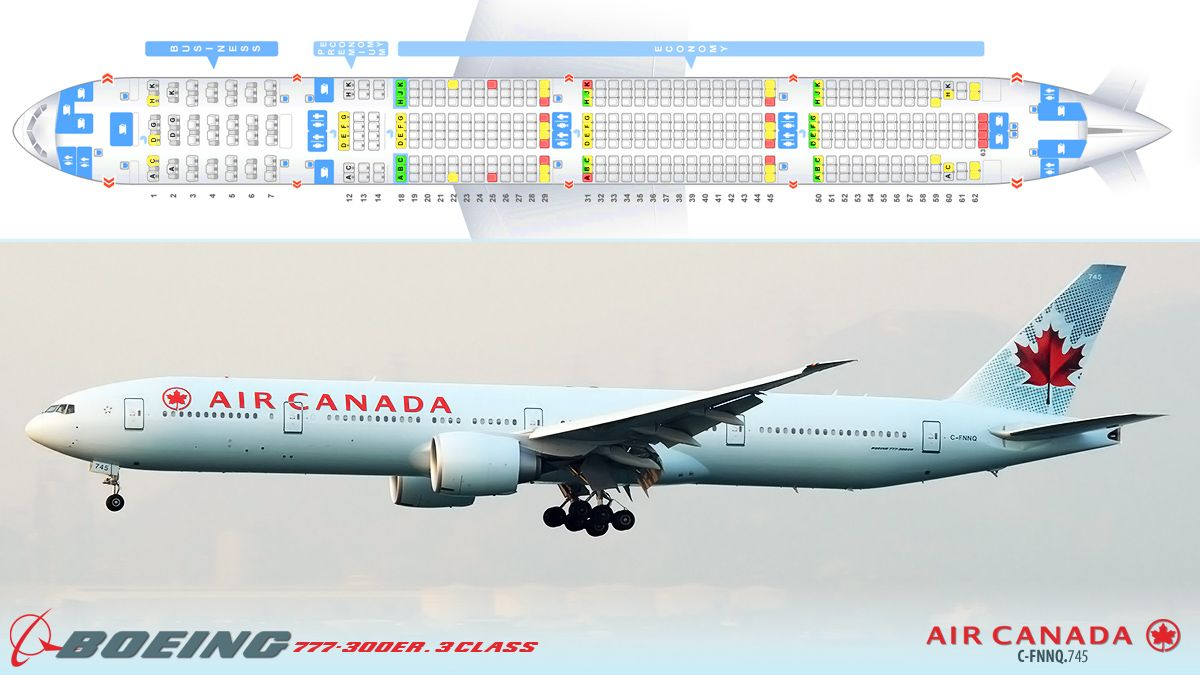 air canada boeing 777 300er 3 class seating chart in. Black Bedroom Furniture Sets. Home Design Ideas
