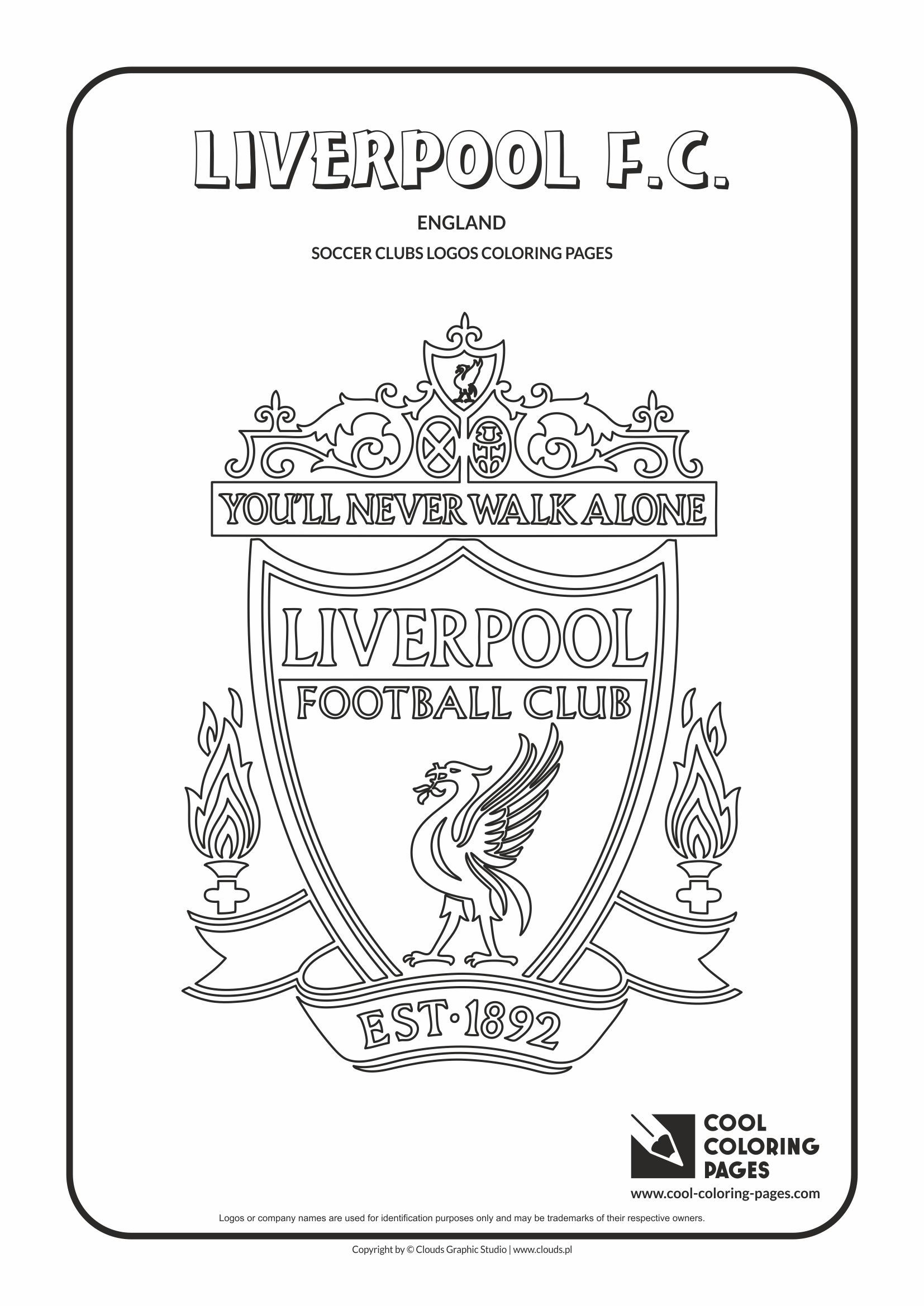 Liverpool FC logo coloring  Coloring page with Liverpool FC