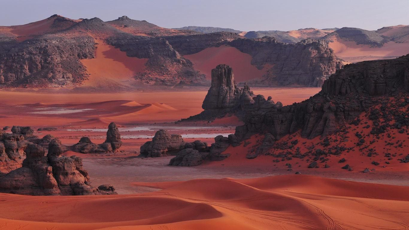 Tassili N'Ajjer National Park, Sahara, Algeria (by ©Gil Giuglio / Hemis / Corbis)