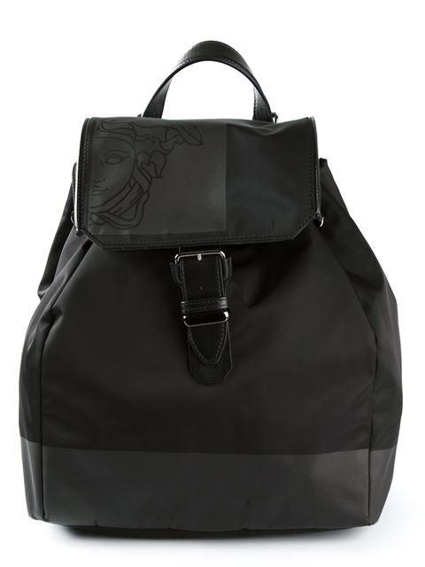 Versace Collection Medusa Print Backpack - Profile - Farfetch.com ... e9232b19d2a5a