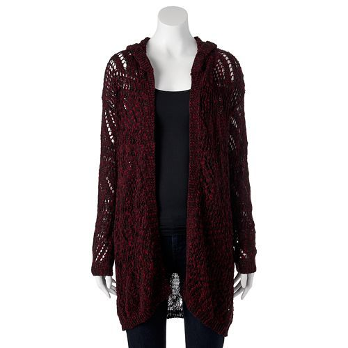 SO Open-Work Hooded Cardigan - Juniors #Kohls | Clothes ...