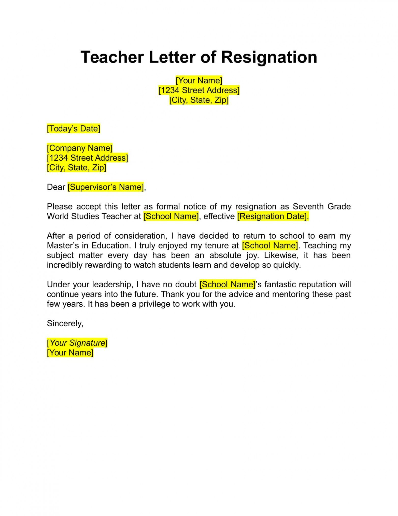 Explore Our Image of Nurse Leader Resignation Letter in