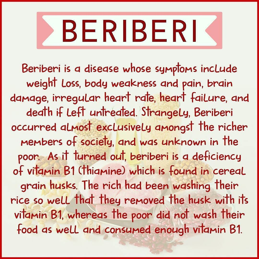 lack of beriberi