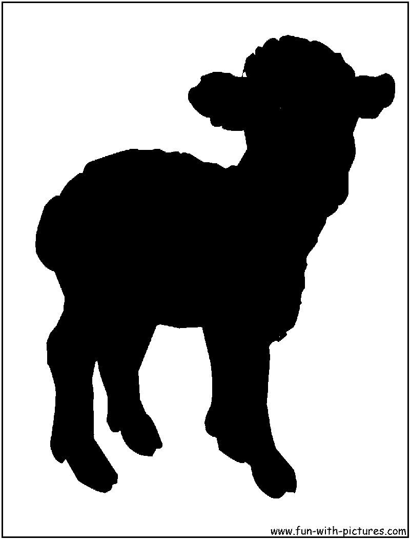 sheep outline for books templates easter wrapping
