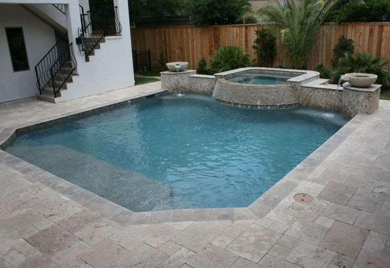 Contemporary Swimming Pool Design 64. Shallow End Long Enough For Lounge  Chairs