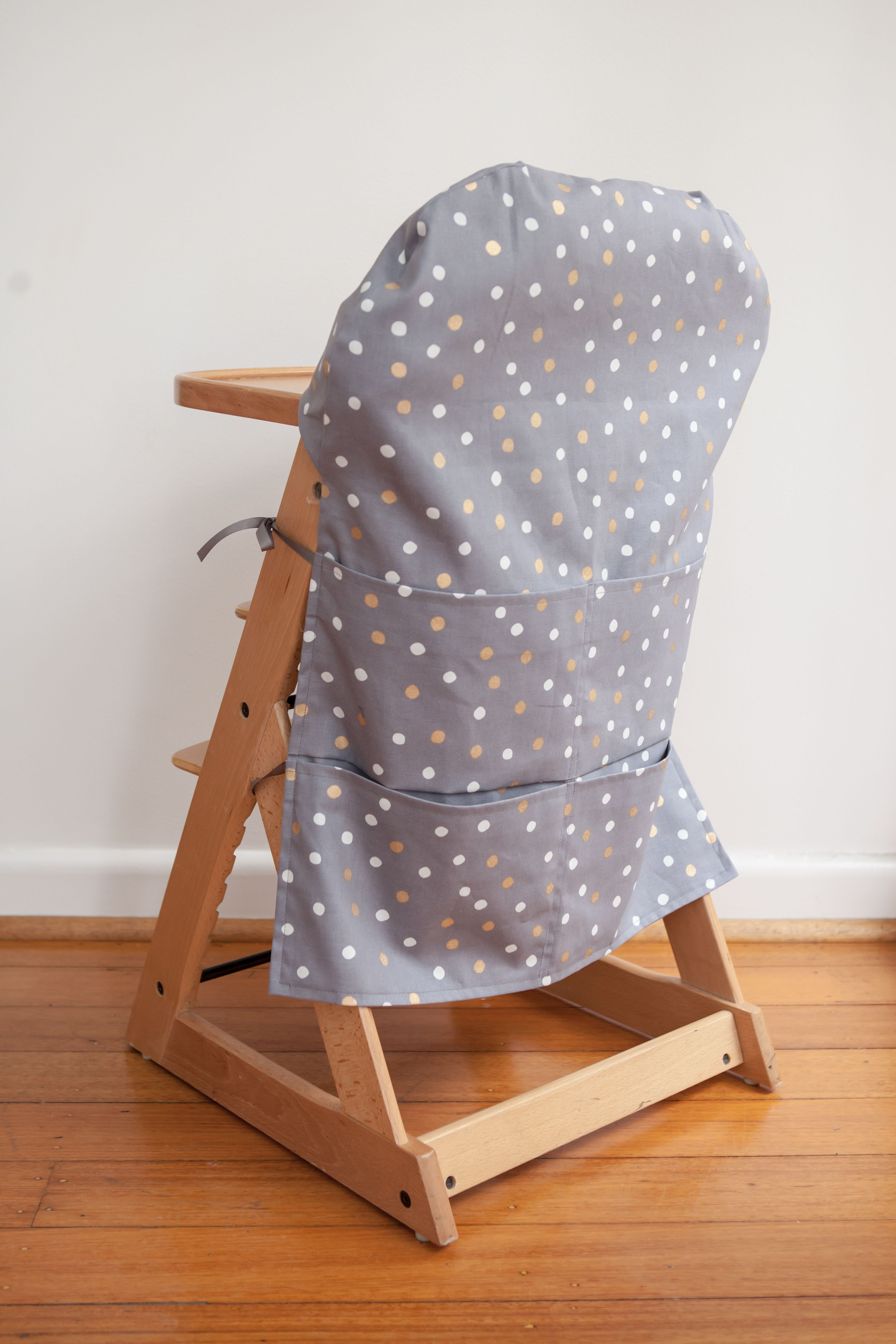 High Chair Caddy Grey Multi Colour Spot