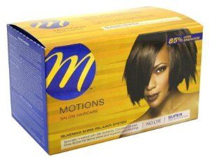 Motions Silkening Shine Relaxer System Super by Motions. $5.00. Patent pending technology reduces breakage by 85%. Specially created with silk extracts. Newest innovation in relaxer history. Get smooth, silky and luxurious hair with the motions hair relaxer super strength. It is formulated to improve coarse, non-porous hair. This hair relaxer treatment formula does not contain a base and conditions hair as it relaxes it. Featuring natural humectants, cationic conditioners lock...