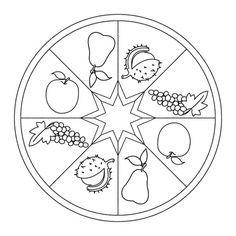 herbst-mandala mit früchten | bastel herbst, herbst im kindergarten, mandala herbst
