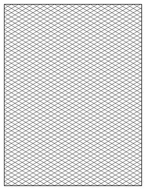 photograph regarding Isometric Graph Paper Printable called 8.5 x 11 Letter Isometric Graph Paper Template PDF, Portrait