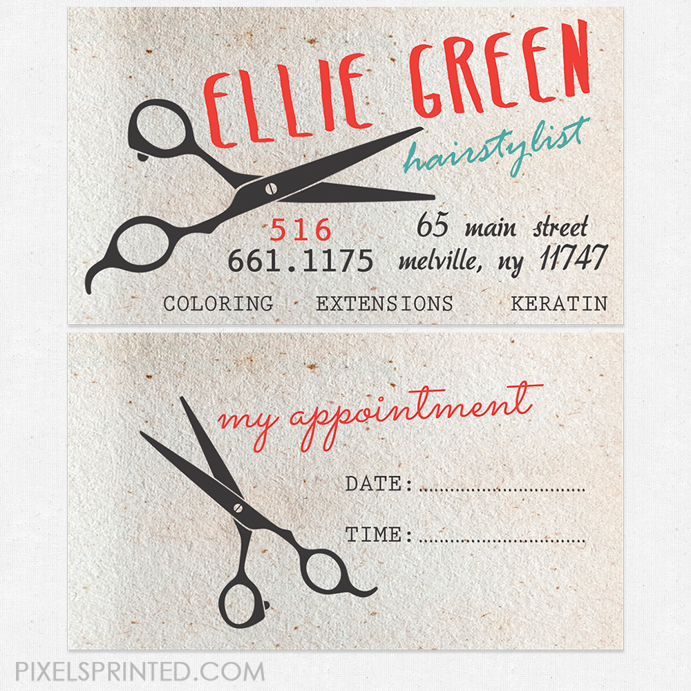 vintage hair salon cards, unique hairstylist business cards, salon ...
