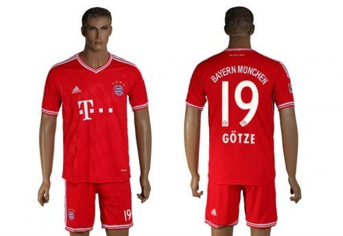 Maillot Bayern Munich Gotze 19 Domicile 2013-2014
