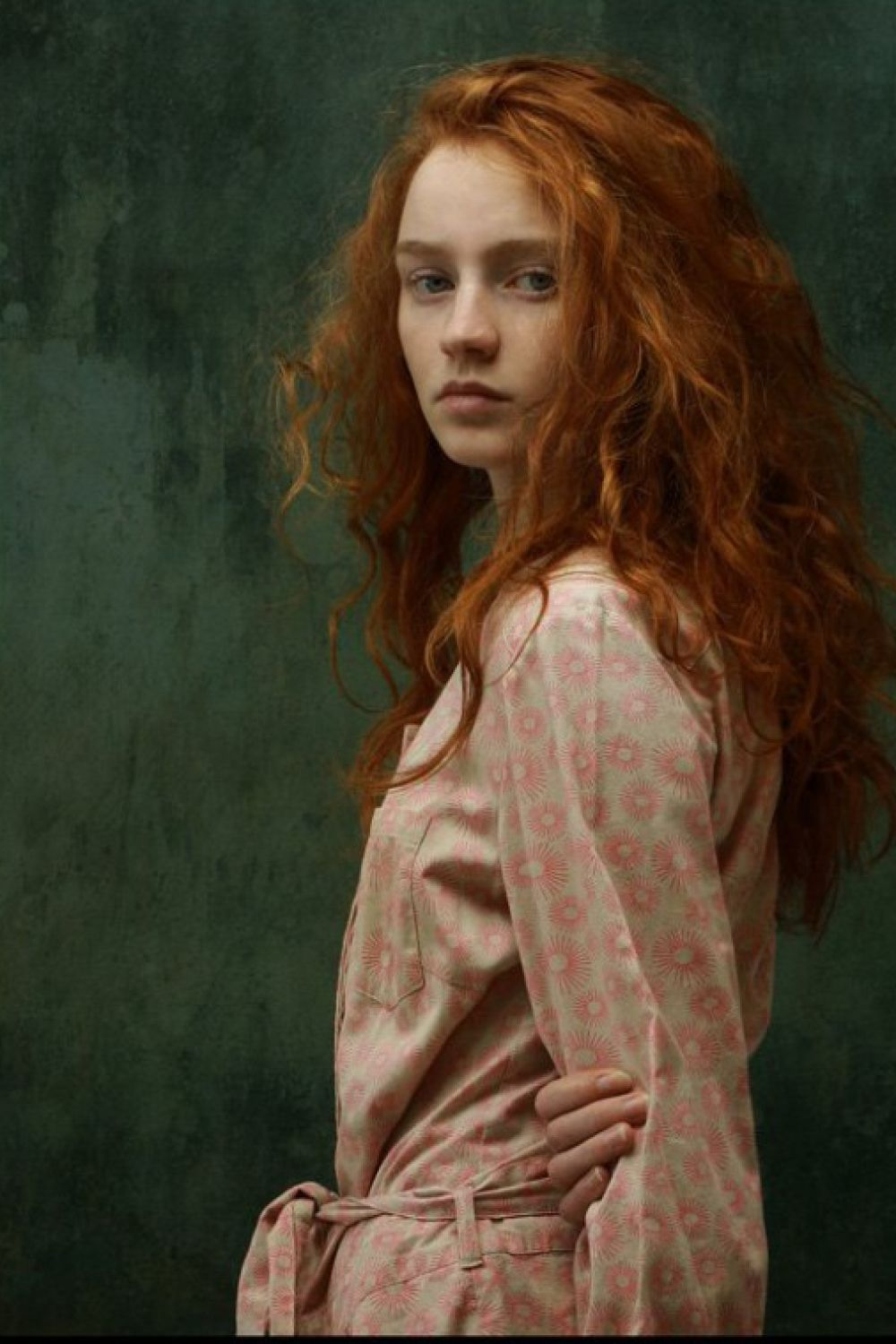 Theme, painting of red headed woman