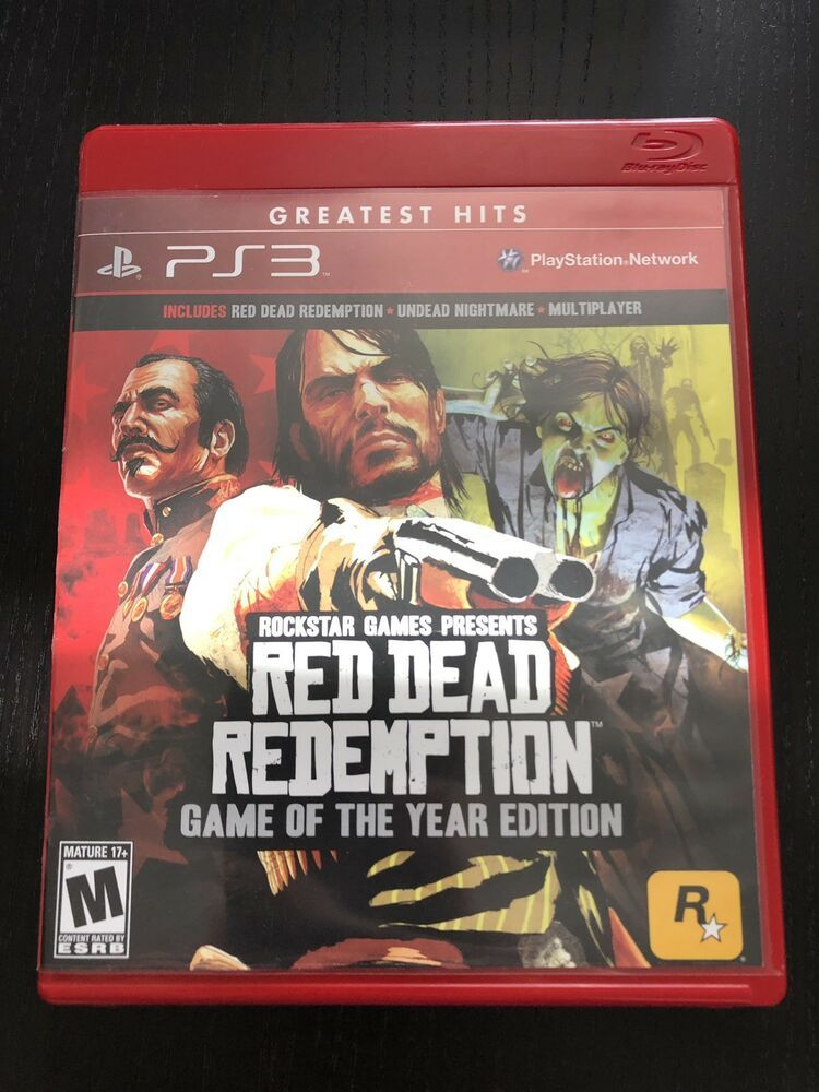 Red Dead Redemption Game Of The Year Edition Ps3 With Map Very