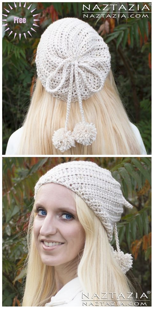 Crochet Twist Slouchy Hat Free Crochet Pattern-Video | Crochet ...