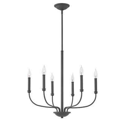 Laurel Foundry Modern Farmhouse Henri 6 Light Candle-Style Chandelier Finish: Buckeye Bronze