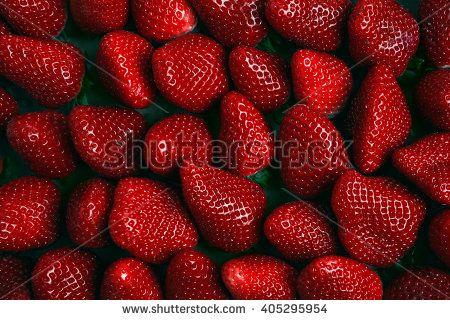 Strawberries full frame - stock photo