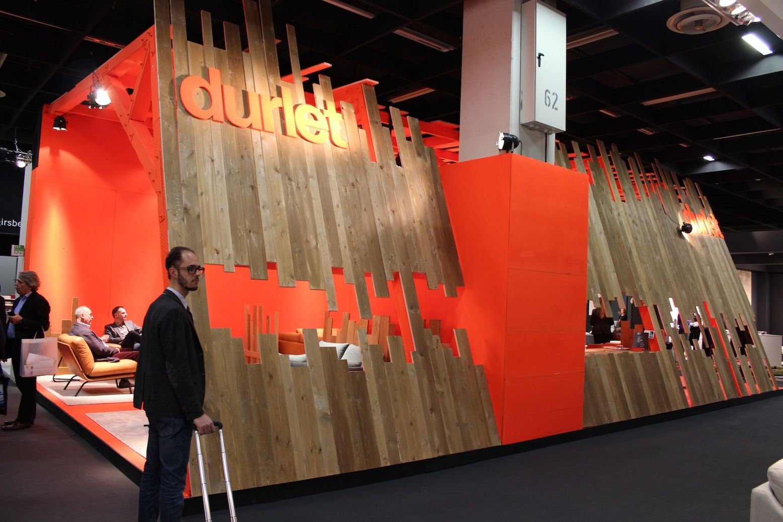 Exhibition Booth Area : Raw materials and bold color area durlet at imm cologne