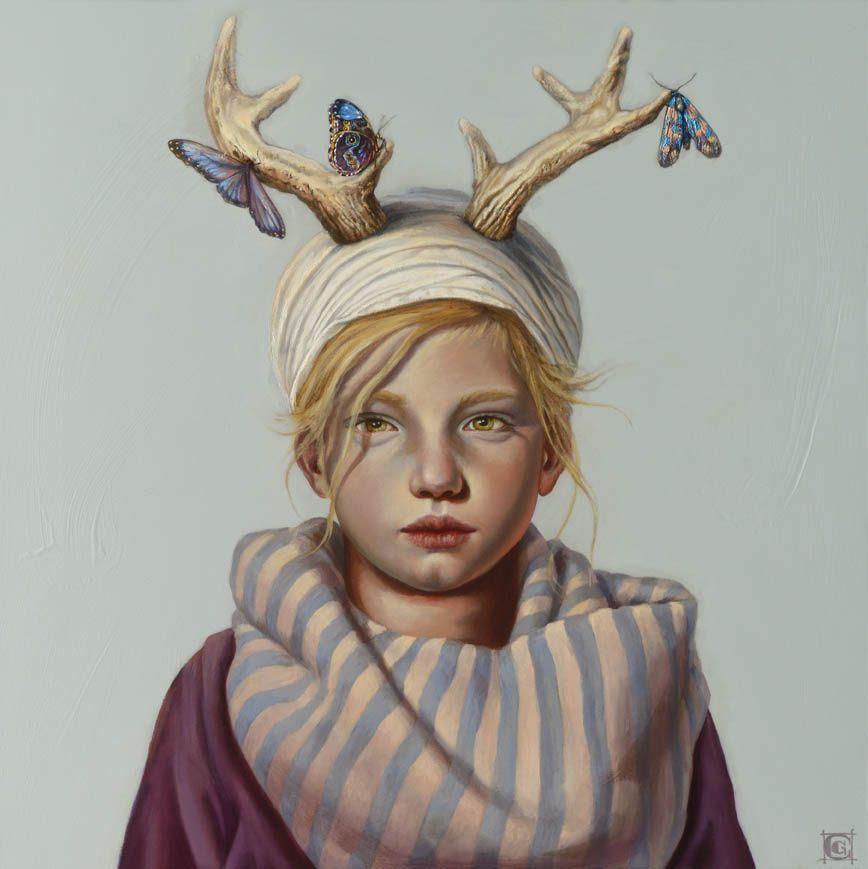 Claudia Giraudo, Cuore di cervo, oil on canvas, 2016, 50 x 50 cm #contemporary…