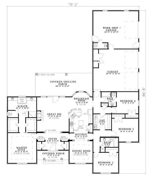 Quite Possibly The Best Floor Plan I Have Ever Seen I Honestly Don T Think I Would Change Anything Ranch House Plan Ranch House Plans Ranch Style House Plans