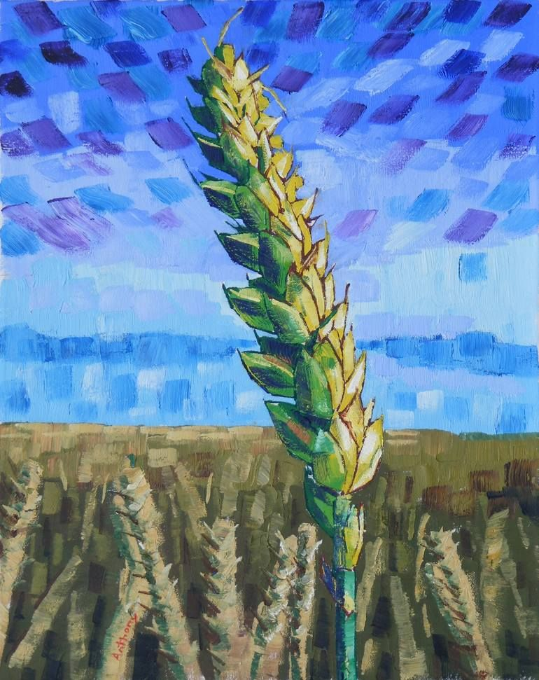 60 Ears Of Wheat Ii 2017 By Anthony D Padgett After Van Gogh