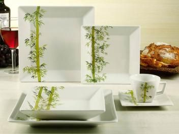 Aparelho De Jantar 30 Pecas Porcelana Oxford Quartier Bamboo De