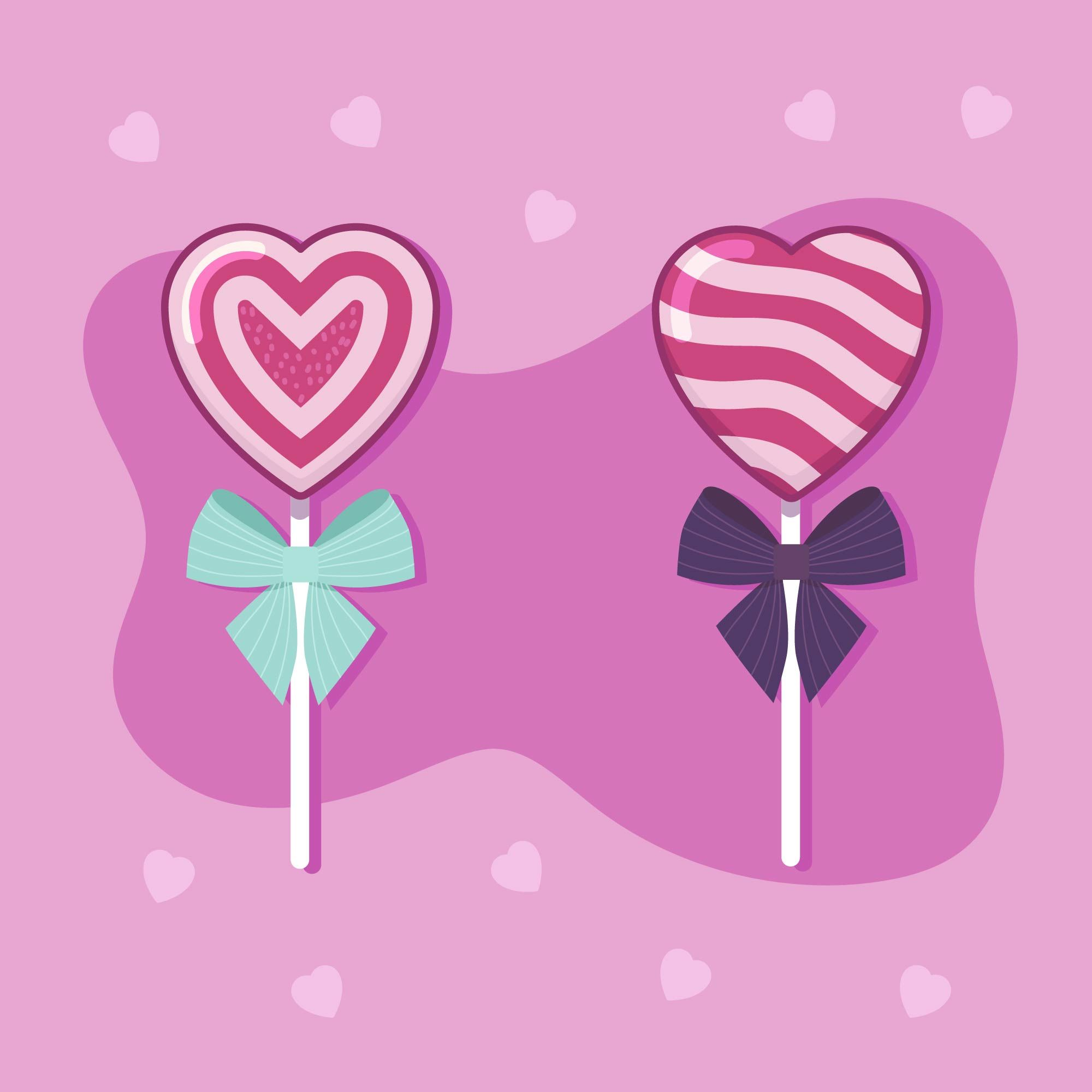 Valentine Candy Hearts Vector in 2020 Heart candy