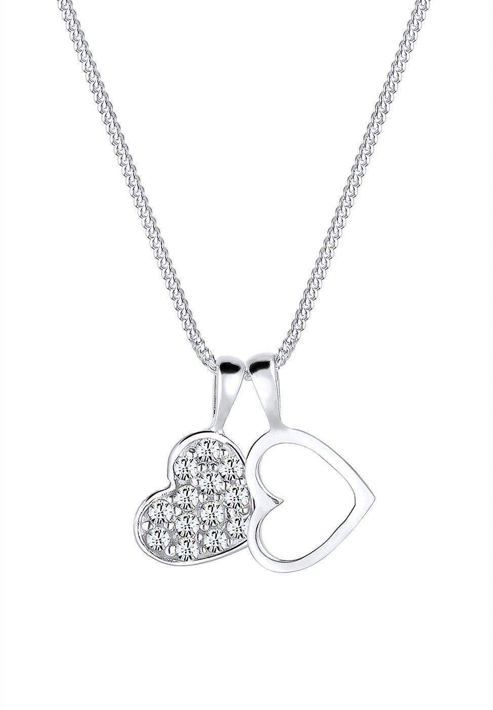 Diese romantisch verspielte Herz-Kette aus feinstem 925er