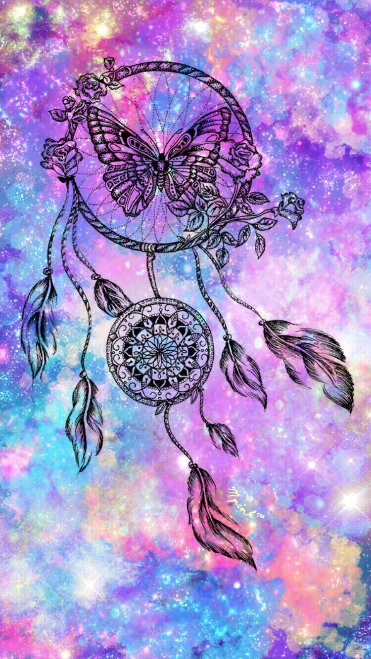 Butterfly Dreamcatcher Wallpaper | My Wallpaper Creations ...
