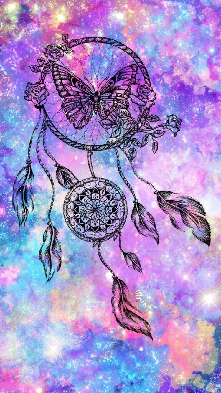 Butterfly Dreamcatcher Wallpaper | My Wallpaper Creations ...