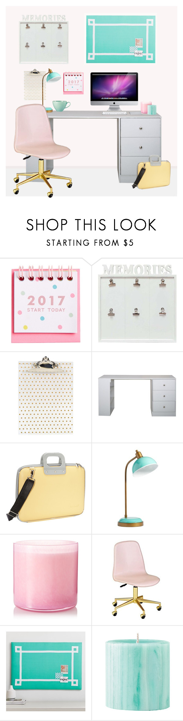 """""""Pretty Workspaces"""" by my-style-xo ❤ liked on Polyvore featuring interior, interiors, interior design, home, home decor, interior decorating, Concepts in Time, Bombata, PBteen and LAFCO"""