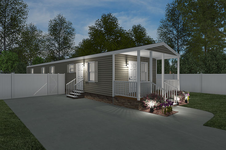 The THE SIDELINE Exterior. This Manufactured Mobile Home