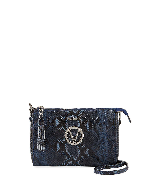 Valentino By Mario Valentino Susanne Python Print Small Crossbody Bag Valentinobymariovalentino Bags Printed Leather Bag Small Crossbody Bag Crossbody Bag